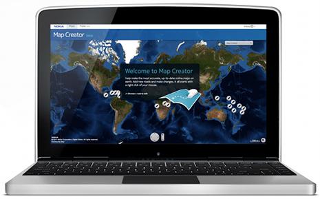 Nokia Map Creator  Landing Experience